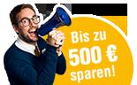 bis zu 500 Euro Gutschein